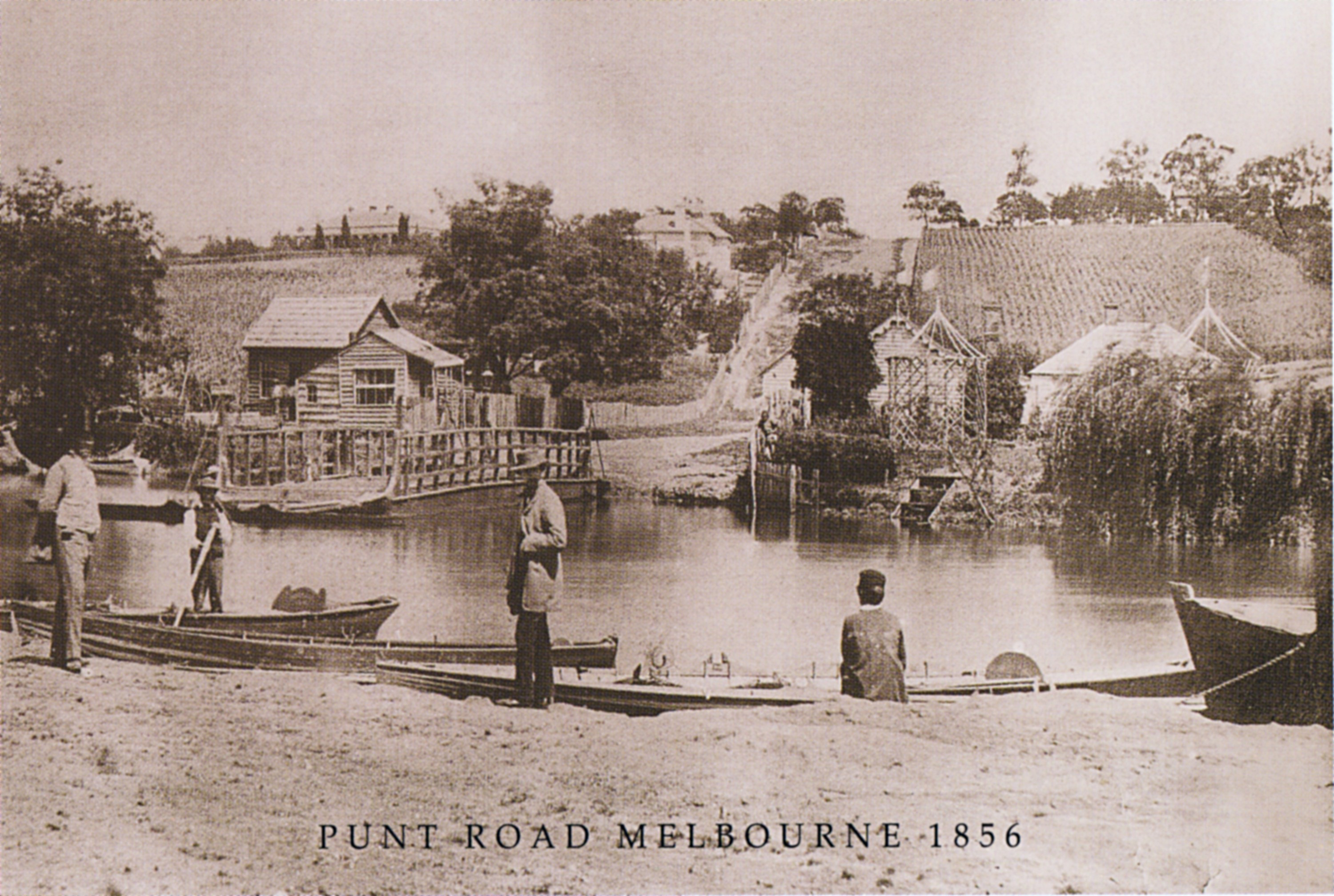 1856 The Punt At Punt Road East Melbourne Historical