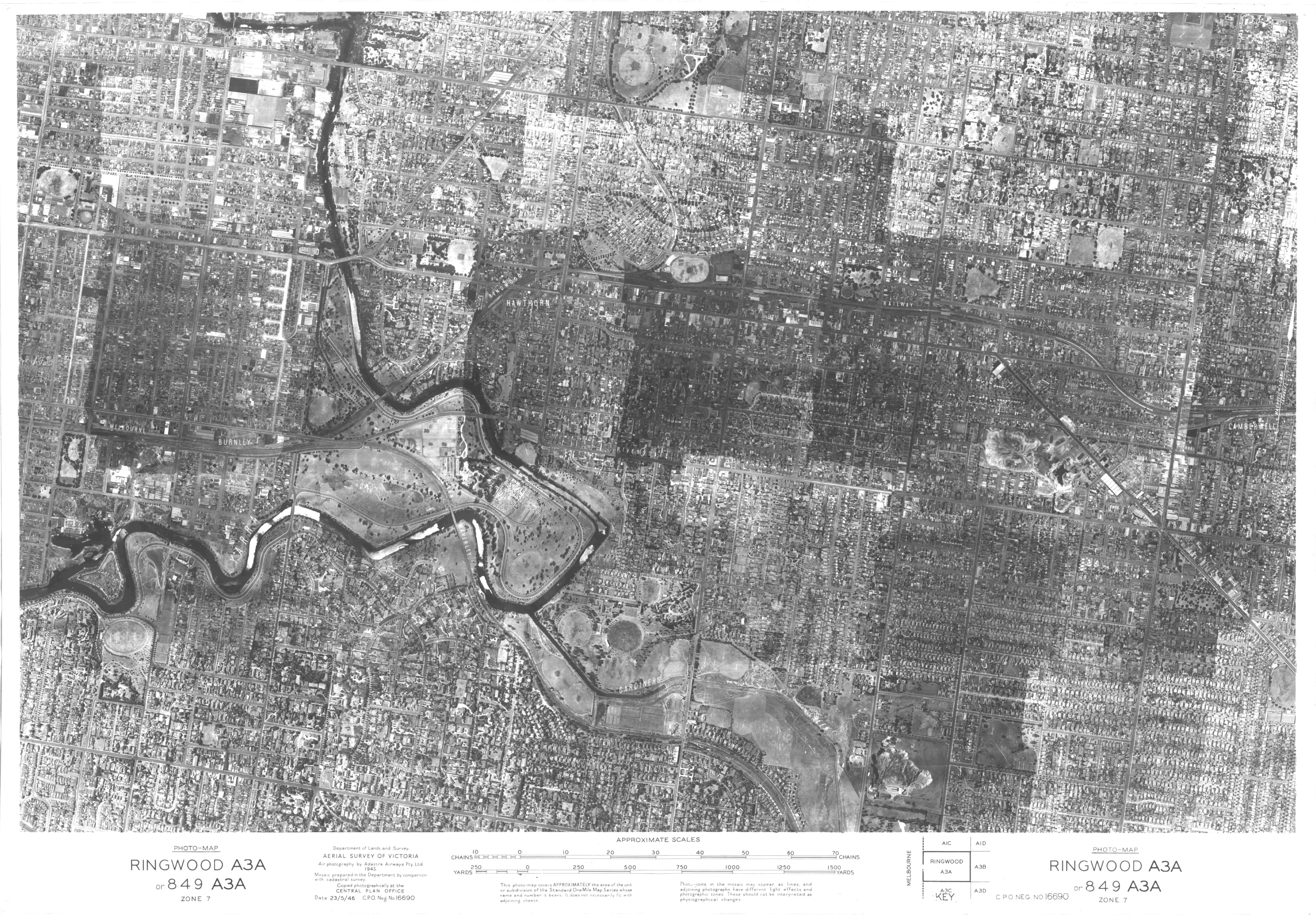 Aerial Map Of Melbourne East East Melbourne Historical Society - Historical aerial maps