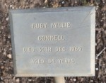 Ruby Connell (nee Hornsey) plaque (Faithe Jones)