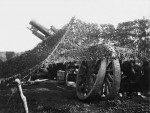 Australian 9.2. inch Howitzer, camouflaged, Ypres, 1917