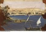 View across Nile from Gezirah AWM ART02821