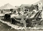 Australian sisters outside their quarters on Lemnos late 1915