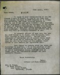 Reply from Victoria Barracks - 26 April 1918