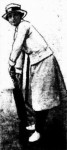 Miss Lilla Brockelbank, the 'Wilfred Rhodes' among Melbourne's lady cricketers,