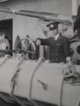 Tom Corrigan in the Gun Gallery of the Australian War Memorial 1944