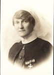 Estelle Lee-Archer with Royal Red Cross (2nd Class) decoration c1916