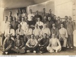 Edward John Gaynor en route for Gallipoli, 3rd Row middle, in white, 30/5/1915d