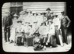 Group portrait of Coldstream Ladies Cricket Club, Mr Gooley on left.