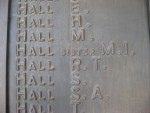 Soldiers Memorial Honour Roll Bendigo: May Isabel Hall and Stanley Anderson Hall
