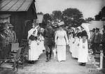 Queen Mary visiting 1AGH Rouen July 1917 when McKinnell there (AWM K00019)