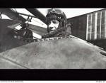 Lt T.I.W. Kelly, No 4 Sqdn, AFC - in cockpit of Sopwith Snipe aircraft