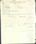 Receipt for equipment returned to drill hall, East Melbourne