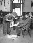 Limb fitting at 2 Australian Auxiliary Hospital London (AWM D00545)