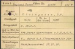 Livingston's German Casualty Card