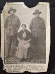 Lyla Stewart with brother Campbell and Charles Clifford, France, Christmas 1916