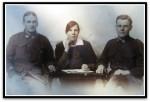 Studio portrait, France, Christmas 1916, Lyla and Campbell Stewart (r)