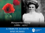 Marguerite Ousley commemorated by St Vincent's Hospital, Melbourne
