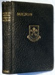 Volume of Milton's poems purchased with inaugural R E Cameron Prize