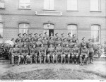 5th Battalion.  H F Morrison back row, sixth from left:  the tall one. 20-2-1918