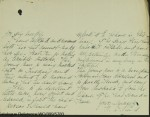 Ousley's resignation (extract from Ousley, Service Record [National Archives])
