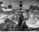 Sister Gemmell (probably) on hospital train 1AAH 1916 (AWM P02402.004)