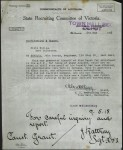 Letter requesting background check on Johann George Schultz