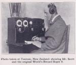Ernest Humphrey Scott with early radio
