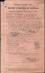 Discharge in a Country other than Australia completed by Ernest Humphrey Scott