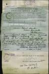 Telegram advising the death of CSM John Conway