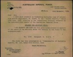 Wilson Dow's notification of the awarding of Military Medal.