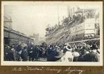 SS Mooltan leaving Sydney 16 May 1915. Patrica Blundell on board.