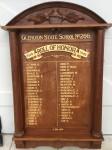Glenlyon School Honor Board includes name of E. Kidd, nurse