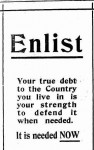 Advertisement calling for enlistments, part 1