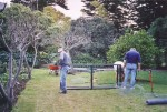 018 John Isbel, Frank Coppens, Murray Hohnen - possum guards for vegetable garden August 2003