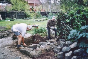 022 Murray Hohnen, Elizabeth Hill - dry stone wall October 2003