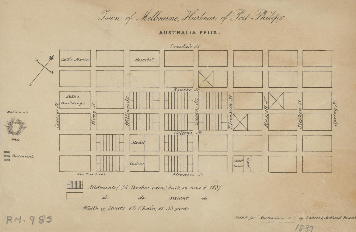 1837 Town of Melbourne