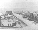 1858 Melbourne, Bourke Street from Spring Street