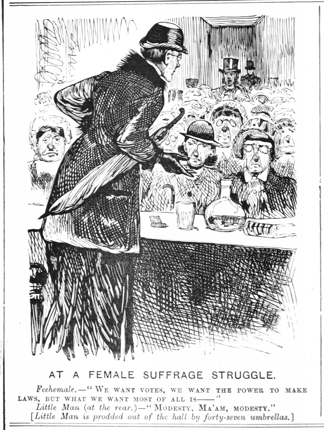 1884-07-03 Melb Punch p8 Female Suffrage Struggle