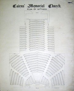 1884 28 Cairns Memorial Church seating plan 28-A