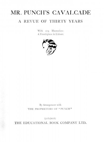 1901-1930 Punch Cavalcade - Title Page