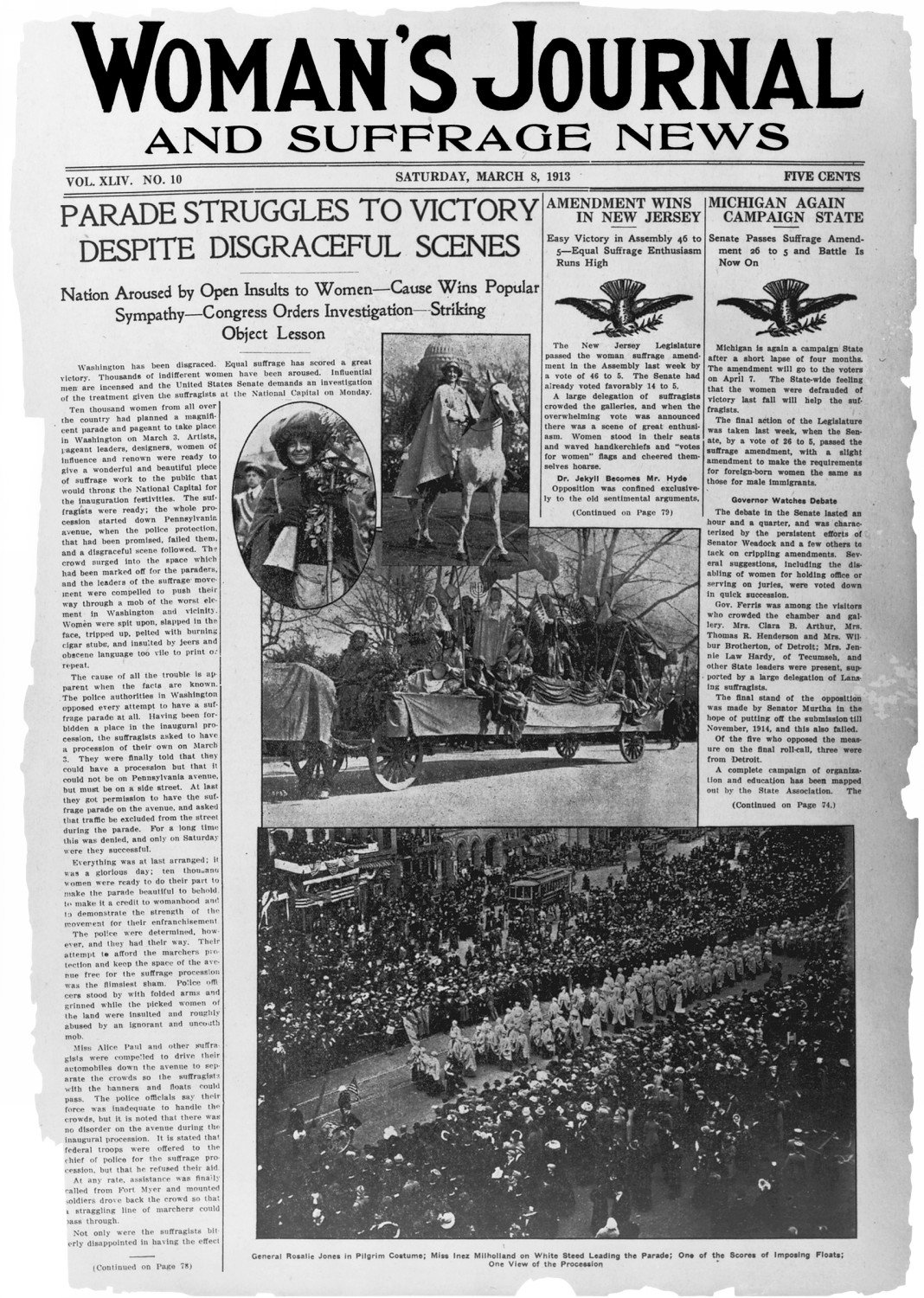 1913 Womans Journal and Suffrage News