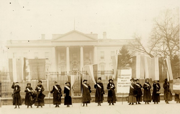 1917 Washington DC, Whitehouse, National Womans Party