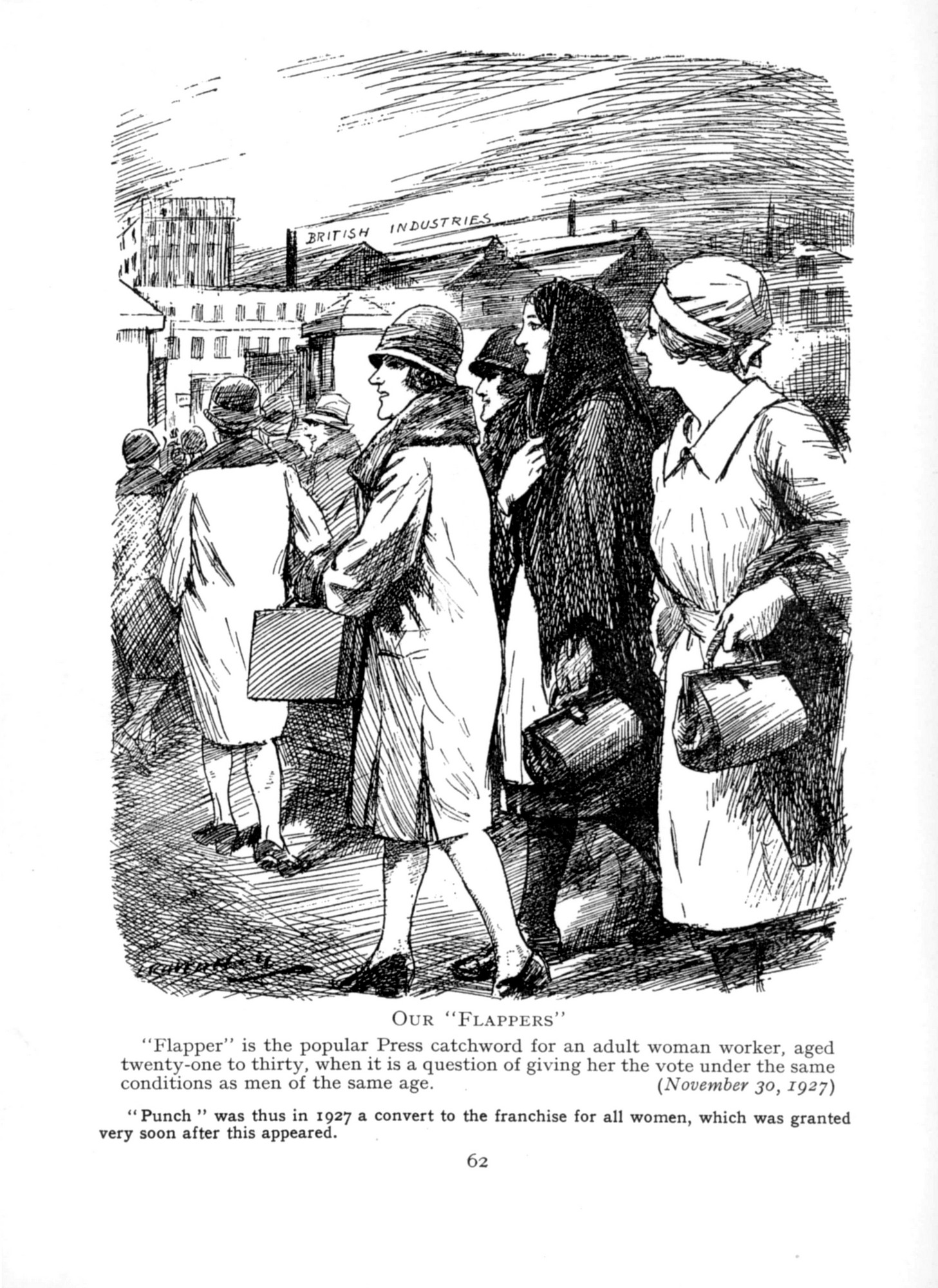 1927 Punch Cavalcade p62 - Our Flappers