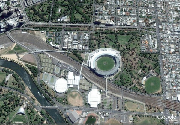 2007 Yarra Park Google Earth