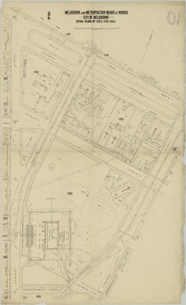 bw0011 MMBW Plan - Spring St, Victoria Pd, Albert St, Gisborne St