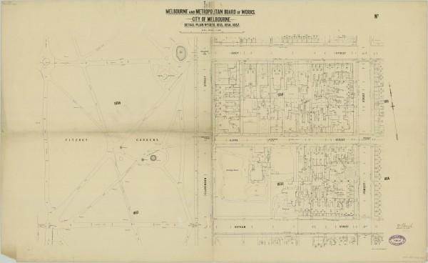 bw0020 MMBW Plan - Grey St, Powlett St, Hotham St, Fitzroy Gardens