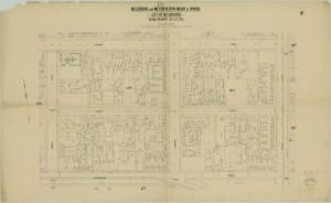 bw0022 MMBW Plan - Hotham St, Hoddle St, Wellington Pd, Powlett St