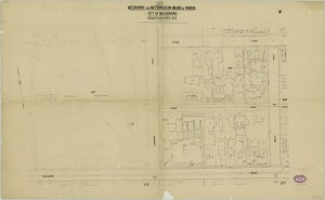 bw0023 MMBW Plan - Hotham St, Powlett St, Wellington Pd, Fitzroy Gardens
