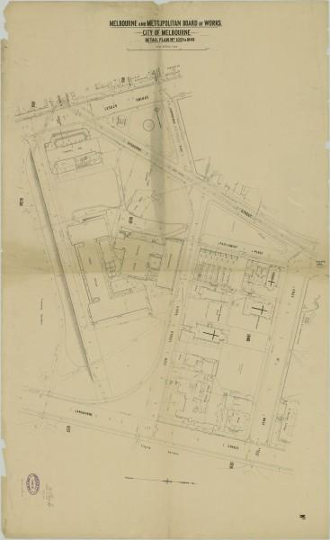 bw0025 MMBW Plan - Spring St, Gisborne St, Cathedral Pl, Lansdowne St, Treasury Pl