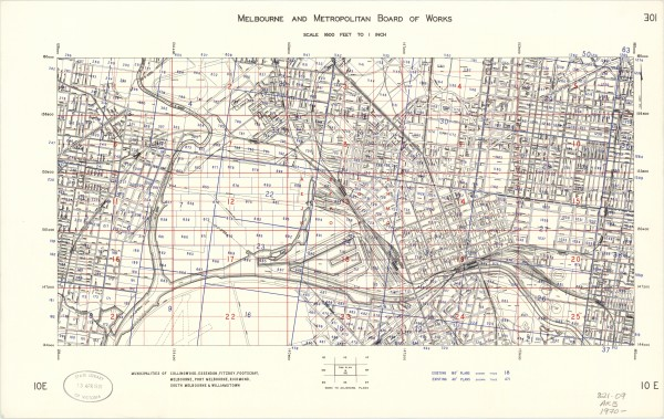 01 bw0057 MMBW Master Plan 10E - Melbourne and inner suburbs